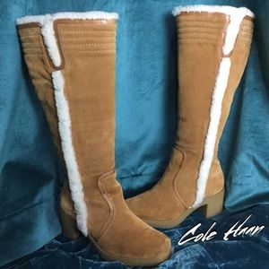 "Cole Haan Suede&Shearling ""Crushin on Camel"" Boots"